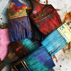 student paintbrushes